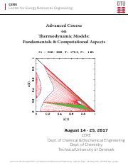 AdvancedCourseOnThermodynamicModels2017
