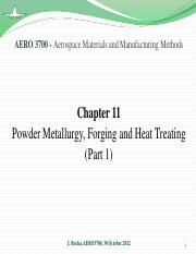 Chapter 11 - PM, Forging and Heat Treatment (part 1)