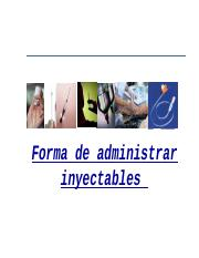 INYECTABLES VIA INTRAMUSCULAR - 2016.ppt