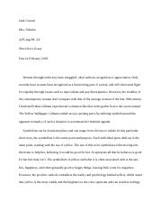 The Yellow Wallpaper Analysis Essay.docx