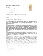Article - Peanut Butter and Banana Smoothie