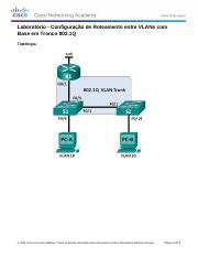5.1.3.7 Lab - Configuring 802.1Q Trunk-Based Inter-VLAN Routing