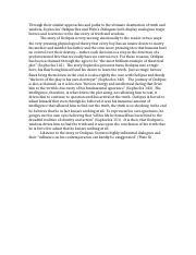 truth essay oedipus