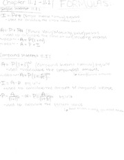 Ch.11 Simple and compound intrest notes