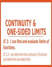 1.4 - Continuity & One-Sided Limits.pptx