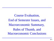 28 Summary of Macroeconomics (100B)