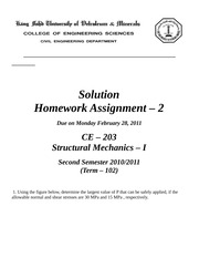 HW - 2c Solution Due Feb 28