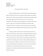Essay on Education in North America
