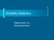 9 - Disability Dialectics