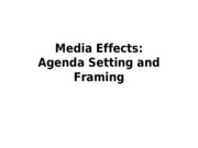 Lec 4 - Agenda Setting and Framing