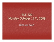BLE 220 Monday Oct 12