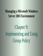 chapter09-implementingandusinggrouppolicy-090505014518-phpapp01.ppt