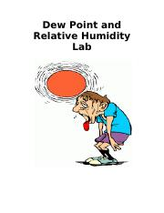 Dew Point and Relative Humidity Lab