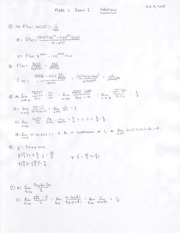 Math 11 - 2008 Fall - Exam 1 solutions