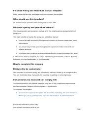 Procedure Manual Template from www.coursehero.com
