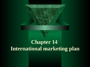 Chapter14 International marketing plan