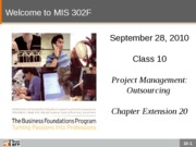 F10-Class-10-Project Management-Outsourcing