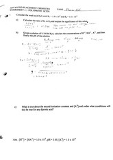 Molality Notes - . NFHS CHEMISTRY AP CHEM WORKSHEET # 2 SOLUTIONS ...