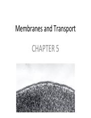 Lecture - Membrane and Transport.pdf