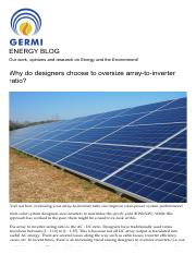 Why do designers choose to oversize array-to-inverter ratio_ – ENERGY BLOG