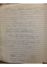 continuous random variable and probablility notes