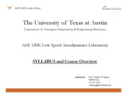 ASE 120K - Syllabus and Course Overview