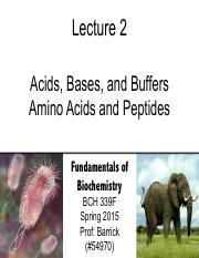 Lecture-2 - Buffers - Amino Acids
