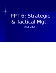 PPT 6 Strategic & Tactical Mgt With Blanks