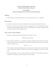 Lecture 6 - External Adjustment in Small and Large Economies