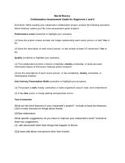 History Collaboration Assessment Guide