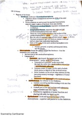 BIO212 chapter 13 regions of the brain part 1 class notes