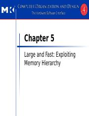 Chapter 5 Large and Fast Exploiting Memory Hierarchy  IW