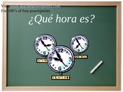 spanish what time is it