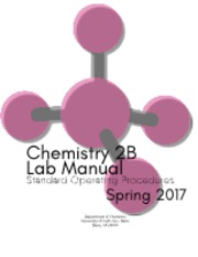 Chem 2B Spring 2017 Lab Manual final