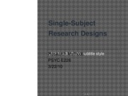 Single Subject Research Designs 3.22