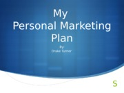 personal marketing plan powerpoint