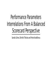 Performance Parameters Interrelations From A Balanced Scorecard Perspective.pptx