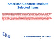ACI - Selected Items