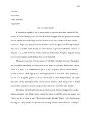 The Man He Killed Essay - Word