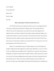 History 1301 final essay grant and lee ashley 2