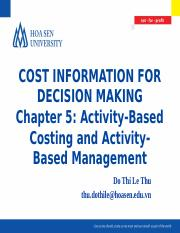 4. CIDM_Chapter 5_Activity-Based Costing and Activity-Based Management