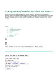 C programming Interview questions and answers_ FIND PRIME FACTORS OF A NUMBER USING C PROGRAM.html