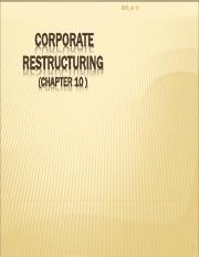 Chap_10_CORPORATE_RESTRUCTURING_PPTs