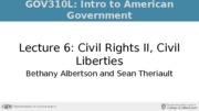 Lecture 6 Civil Rights 2 Civil Liberties 1_studentslides_fall2015