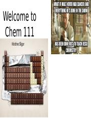 Welcome to Chem 111(1)