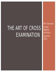 The Art of Cross Examination.pptx