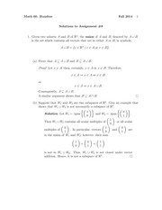 MATH 60 Fall 2014 Assignment 8 Solutions