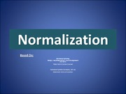 IS414_LECTURE NOTES_Normalization