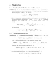 Conditional Expectations Notes