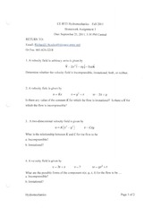 Homework 3 fall 2011 solutions
